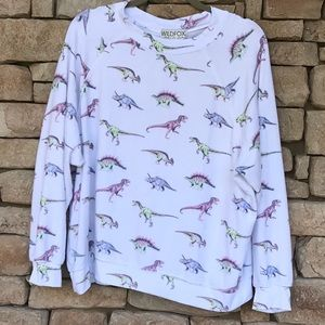 HTF WILDFOX DINOS SOMMERS SWEATER M 🦕🦖